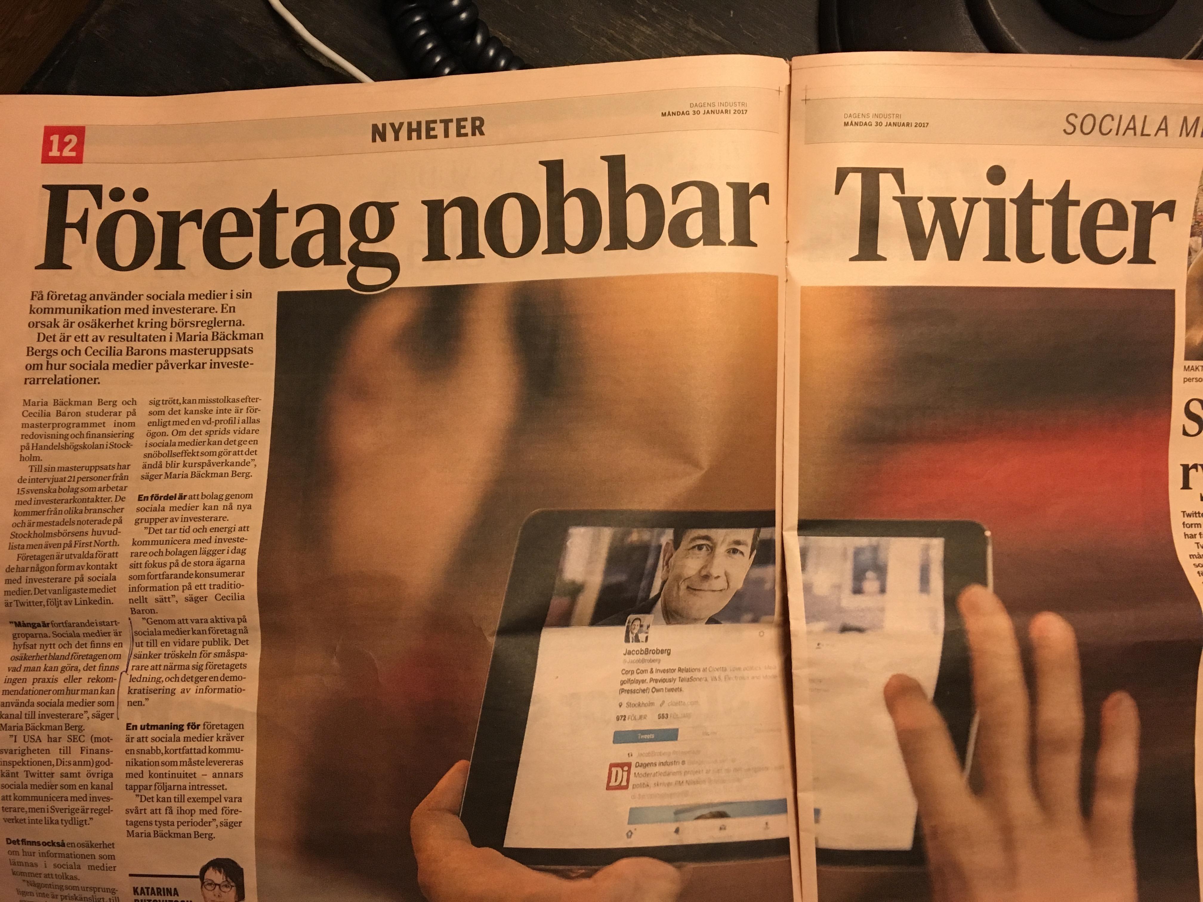 sociala medier och IR